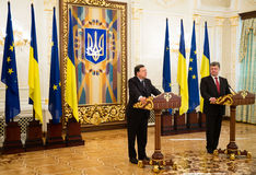 President of Ukraine Petro Poroshenko and European Commission Pr Stock Photography