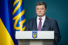 President of Ukraine Petro Poroshenko Stock Photo