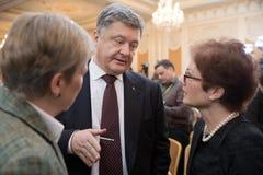 President of Ukraine Petro Poroshenko. KIEV, UKRAINE - Apr 06, 2017: President of Ukraine Petro Poroshenko and US Ambassador Extraordinary and Plenipotentiary to Royalty Free Stock Images