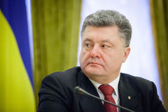 President of Ukraine Petro Poroshenko Royalty Free Stock Photography
