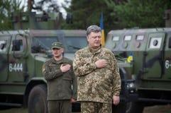 President of Ukraine Petro Poroshenko. KIEV REG, UKRAINE - Jun 18, 2016: President, Supreme Commander-in-Chief of the Armed Forces of Ukraine Petro Poroshenko at Royalty Free Stock Images