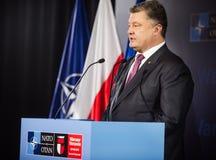 President of Ukraine Petro Poroshenko at NATO sammit Stock Photo