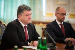 President of Ukraine Petro Poroshenko during the NSDC meeting Stock Images
