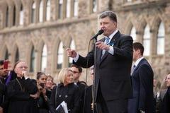 President of Ukraine Petro Poroshenko in Ottawa (Canada) Stock Image