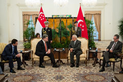 President of Ukraine Petro Poroshenko and President of Singapore Stock Photography