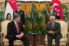 President of Ukraine Petro Poroshenko and President of Singapore Stock Photos