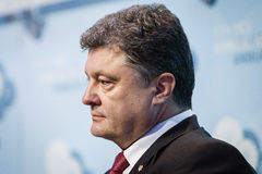 President of Ukraine Petro Poroshenko at the 11th Annual Meeting Stock Photo
