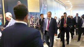 President of Ukraine Petro Poroshenko stock video