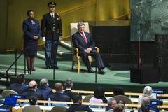 President of Ukraine Petro Poroshenko at UN General Assembly Royalty Free Stock Photography