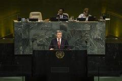 President of Ukraine Petro Poroshenko in UN General Assembly Royalty Free Stock Photography