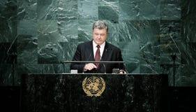 President of Ukraine Petro Poroshenko at UN General Assembly Stock Photos