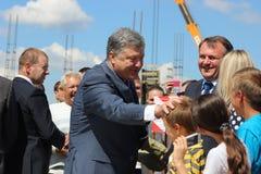 President of Ukraine Petro Poroshenko. Visited Lviv region Stock Photo