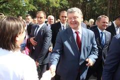 President of Ukraine Petro Poroshenko. Visited Lviv region Royalty Free Stock Photography