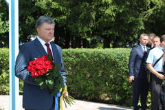 President of Ukraine Petro Poroshenko. Visited Lviv region Stock Photos