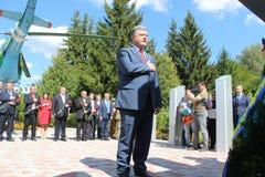 President of Ukraine Petro Poroshenko. Visited Lviv region Stock Image