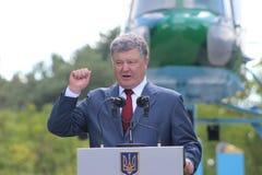 President of Ukraine Petro Poroshenko. Visited Lviv region Stock Photography