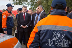 President of Ukraine Poroshenko and NATO Secretary General Jens Royalty Free Stock Image