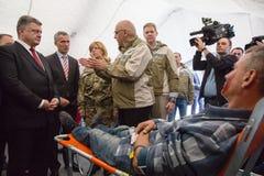 President of Ukraine Poroshenko and NATO Secretary General Jens Stock Images