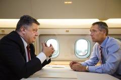 President of Ukraine Poroshenko and NATO Secretary General Jens Stock Photography