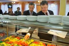 President of Ukraine Poroshenko and NATO Secretary General Jens Royalty Free Stock Photo