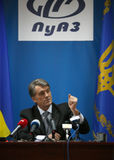 President of Ukraine Viktor Yushchenko Royalty Free Stock Photography