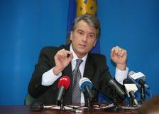 President of Ukraine Viktor Yushchenko Stock Photography