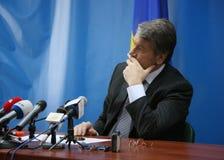 President of Ukraine Viktor Yushchenko. LUTSK, UKRAINE - 02 December 2008: Press conference of the President of Ukraine Viktor Yushchenko Stock Photography