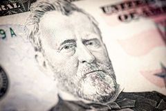 President Ulysses S. Grant. From 50 dollar bill Stock Photos