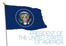 President of the united states of america flag Royalty Free Stock Photos