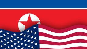 America and north Korea flag. President of the United States animated in after effectspresident of the United States animated in plasticine stock video