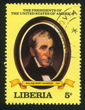 President of the United States Wm. H. Harrison. LIBERIA - CIRCA 1981: stamp printed by Liberia, shows President of the United States Wm. H. Harrison, circa 1981 Stock Image