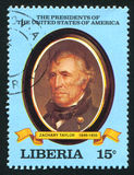 President of the United States Zachary Taylor. LIBERIA - CIRCA 1981: stamp printed by Liberia, shows President of the United States Zachary Taylor, circa 1981 Stock Photo