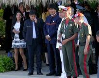 President van Bolivië Evo Morales Royalty-vrije Stock Foto's