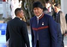 President van Bolivië Evo Morales Stock Afbeelding