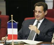 President van de Franse Republiek Nicolas Sarkozy stock afbeelding