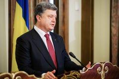 President van de Oekraïne Petro Poroshenko Stock Afbeelding
