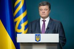 President van de Oekraïne Petro Poroshenko Stock Foto