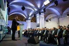 President van de Oekraïne Petro Poroshenko op de 11de Jaarlijkse Vergadering Royalty-vrije Stock Foto