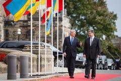 President van de Oekraïne Petro Poroshenko in Ottawa (Canada) royalty-vrije stock fotografie
