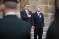 President van de Oekraïne Petro Poroshenko in Ottawa (Canada) stock foto