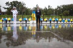 President van de Oekraïne Petro Poroshenko tijdens de viering van Royalty-vrije Stock Foto's