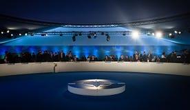 President van de Oekraïne Petro Poroshenko tijdens een vergadering van Na Royalty-vrije Stock Foto's