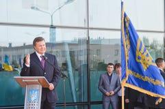 President van de Oekraïne Viktor Yanukovitch Stock Foto