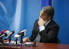 President van de Oekraïne Viktor Yushchenko Stock Fotografie
