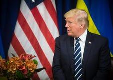 President van de Verenigde Staten Donald Trump royalty-vrije stock foto