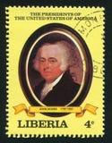 President van de Verenigde Staten John Q adams stock afbeelding
