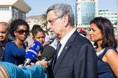 President van Kaapverdië, Jorge Carlos Almeida Fonseca Stock Foto