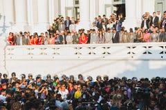 President van Nepal, MEVR. BIDYA DEVI BHANDARI, VIPs en andere Onderdompeling stock fotografie