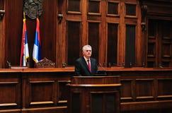 President van Servië Tomislav Nikolich Stock Foto's