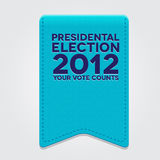 Presidental election 2012. Ribbon vector Royalty Free Stock Photo